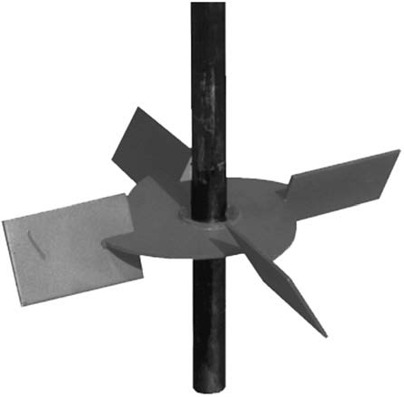 impeller with solid shaft - mud agitator