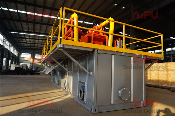 side view mud recycling system
