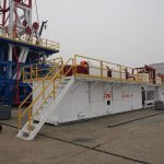 Derrick and solids control system