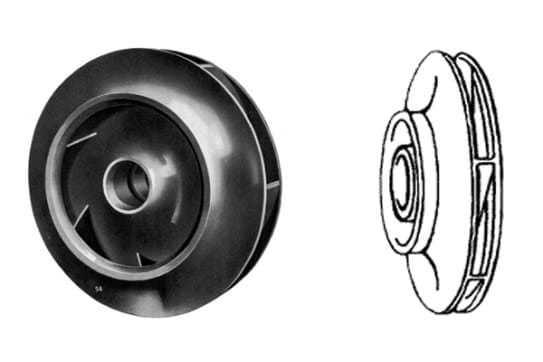 centrifugal pump enclosed impeller