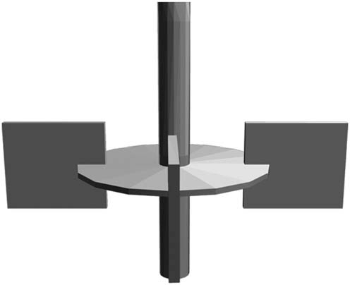 Flat blade impeller - mud agitator