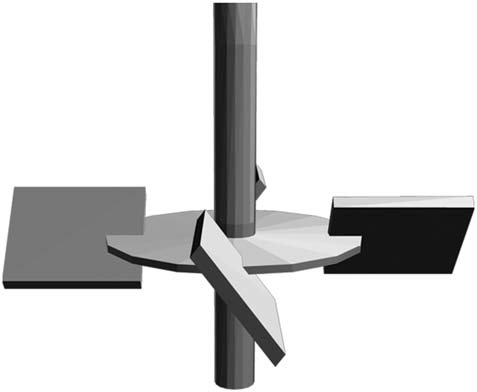 Canted blade impeller