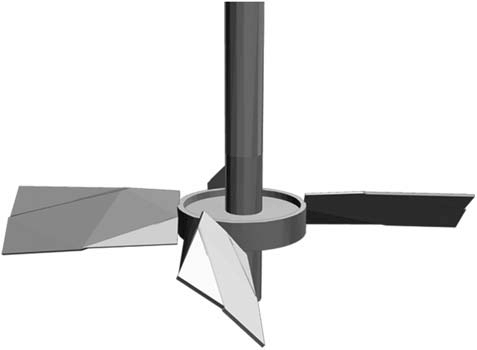 Contour blade impeller