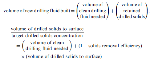 volume of clean drilling fluid