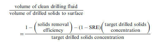 equation for the volume of clean drilling fluid