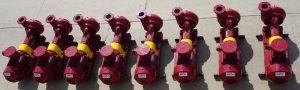a row of centrifugal pumps