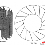 Novel design: vertical plates for centrifugal separation.