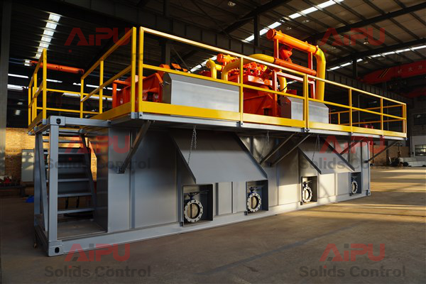 drilling rig mud recycling system for HDD