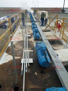 Agitator and tanks in oil sludge treatment