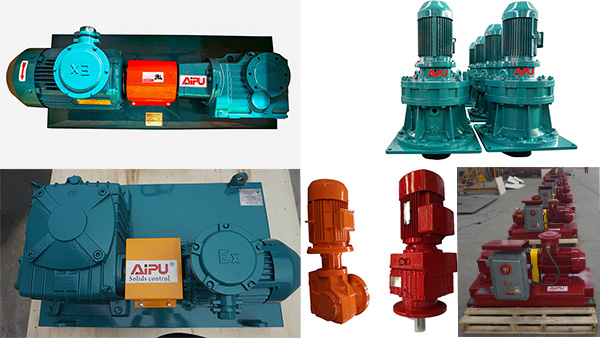 Five types gearbox used in mud agitator